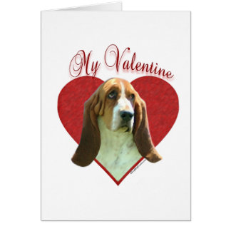 Basset Hound My Valentine Greeting Card