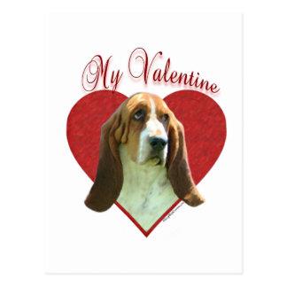 Basset Hound My Valentine Postcard