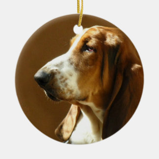 Basset Hound Photo Ornament