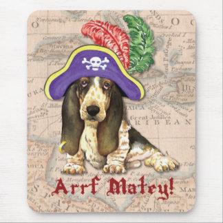 Basset Hound Pirate Mouse Mat