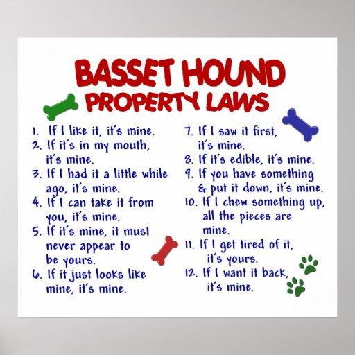 BASSET HOUND PL2 POSTERS