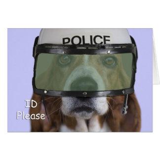 Basset Hound Police Card