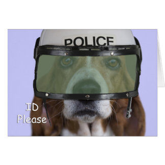 Basset Hound Police Greeting Card