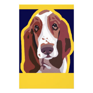 Basset Hound Pop Art Abstract  add pets name Customized Stationery