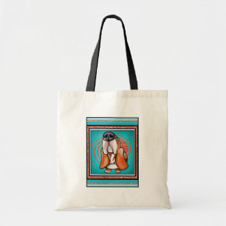 Basset Hound Pop Art Abstract  Glitter Name Tote Bag