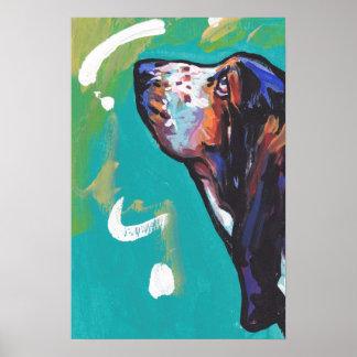 Basset Hound Pop art Poster Print