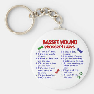 BASSET HOUND Property Laws 2 Key Ring
