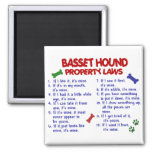 BASSET HOUND Property Laws 2 Magnets