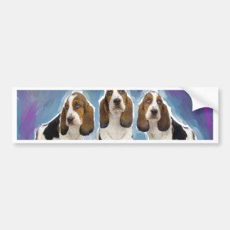 Basset Hound Puppies Bumper Sticker