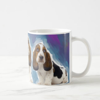 Basset Hound Puppies Coffee Mug