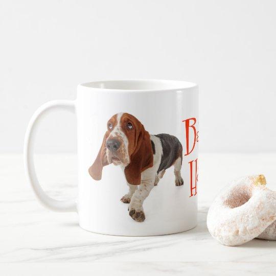 Basset Hound Puppy Dog Red Love Coffee Mug