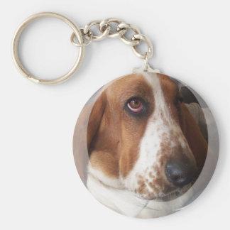 Basset Hound Puppy Keychain