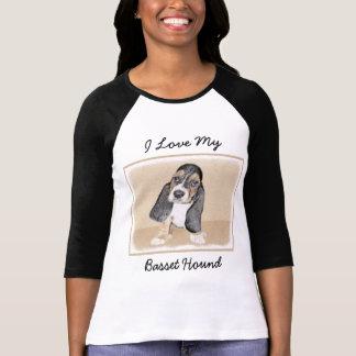 Basset Hound Puppy Painting - Original Dog Art T-Shirt