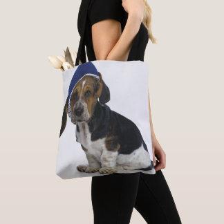 Basset Hound Puppy With Visor Tote Bag