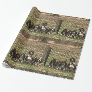 Basset hound puppy wrapping paper