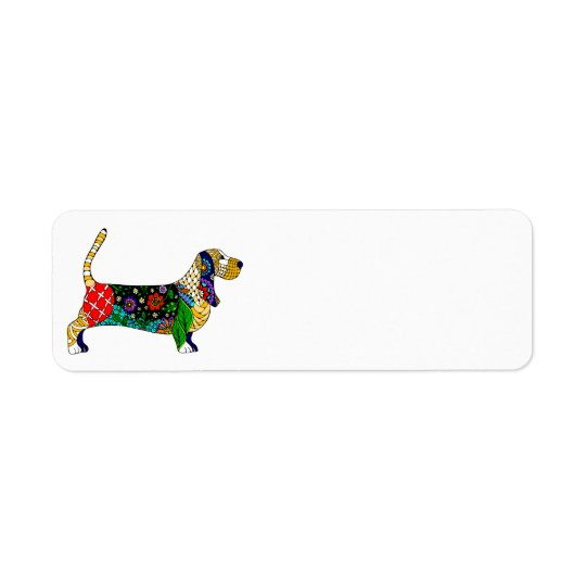 Basset Hound Return Address Label