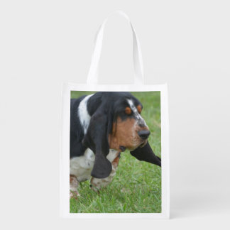 Basset Hound Reusable Grocery Bag