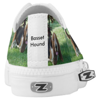 Basset hound shoe printed shoes