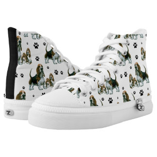 Basset Hound Shoes Printed Shoes