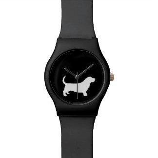 Basset Hound Silhouette Wrist Watch