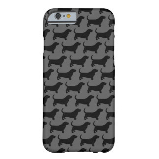 Basset Hound Silhouettes Pattern Barely There iPhone 6 Case