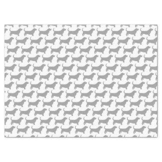 Basset Hound Silhouettes Pattern Tissue Paper