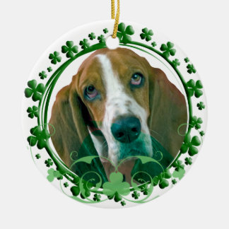 Basset Hound St. Patrick's Day Ornament