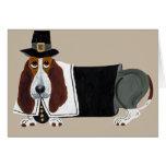 Basset Hound Thanksgiving Pilgrim Cards