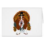 Basset Hound Thanksgiving Turkey Greeting Card
