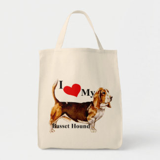 Basset Hound Grocery Tote Bag