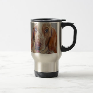 Basset hound travel mug