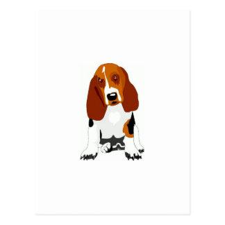 Basset Hound Tri-Colored Postcard