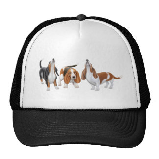 Basset Hound Trio Hat