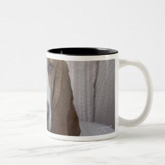 Basset Hound Two-Tone Coffee Mug
