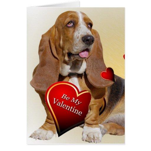 Basset Hound Valentine cards