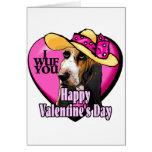 Basset Hound Valentines Day Gifts Card