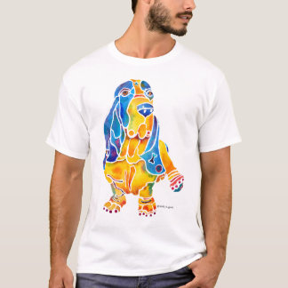 Basset Hound Whimsical Art T-Shirt