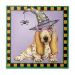 Basset Hound Witch Tile