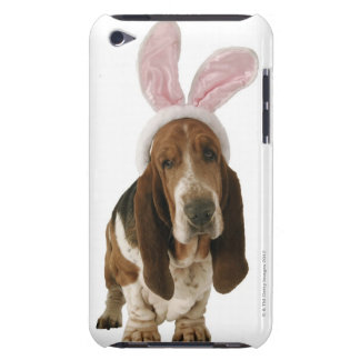 Basset hound with bunny ears barely there iPod cases