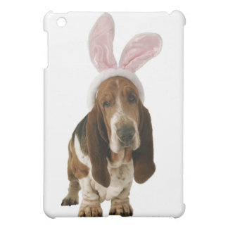 Basset hound with bunny ears iPad mini case
