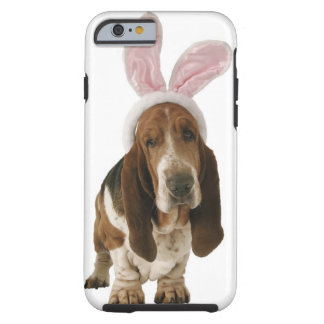 Basset hound with bunny ears tough iPhone 6 case
