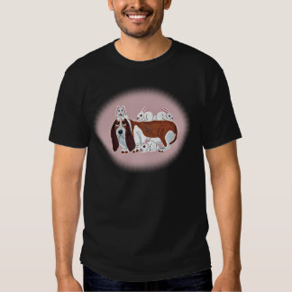 Basset Hound With Bunny Friends T-shirts