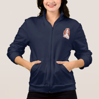 Basset Hound Women's Fleece Zip Jogger