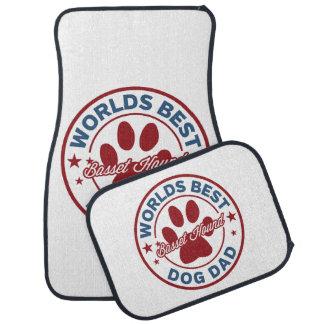 Basset Hound Worlds Best Dog Dad Floor Mat