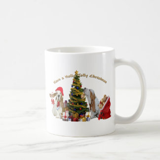 Basset Hounds Have Holly Jolly Christmas Coffee Mugs