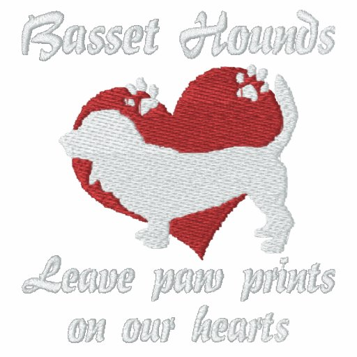 Basset Hounds Leave Paw Prints Hoodie
