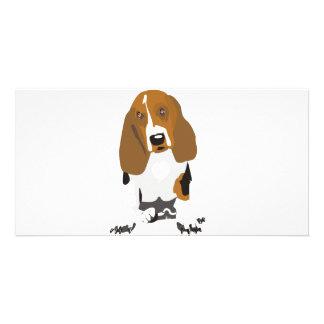 Basset Hound's Personalised Photo Card