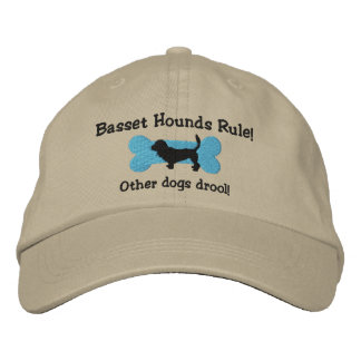 Basset Hounds Rule Embroidered Hat