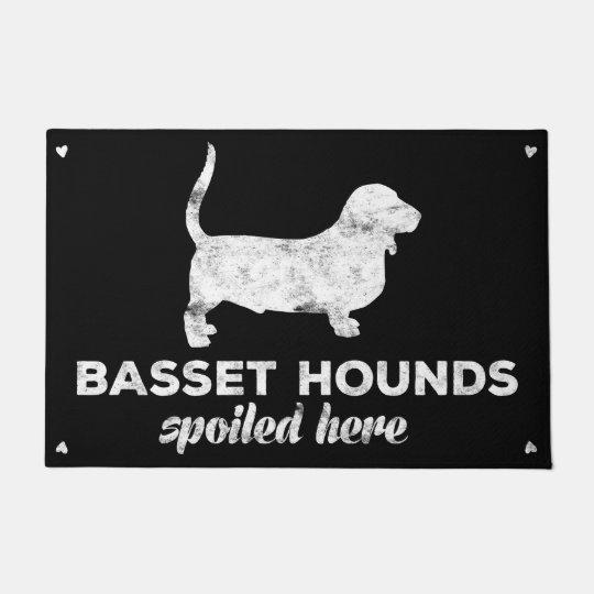 Basset Hounds Spoiled Here Doormat