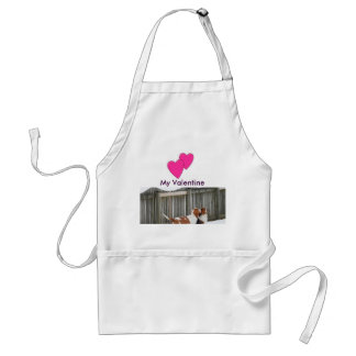 Basset Hounds Valentines in the snow on apron. Standard Apron